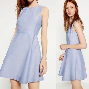 ZARA Basic Collection Chambray Blue Dress NWT